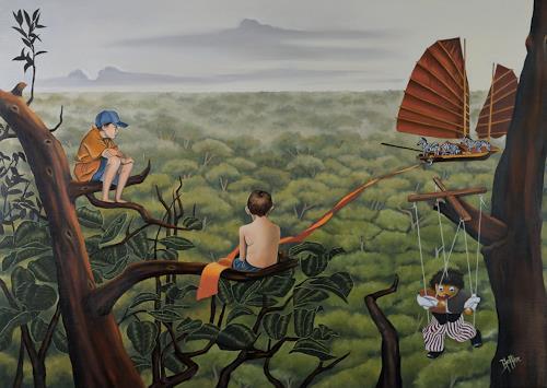 dominique hoffer, L'Insolente Vertu du Silence, Fantasie, Postsurrealismus, Expressionismus