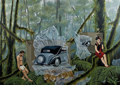 dominique hoffer, Piège à Mémoire, Fantasie, Postsurrealismus, Abstrakter Expressionismus