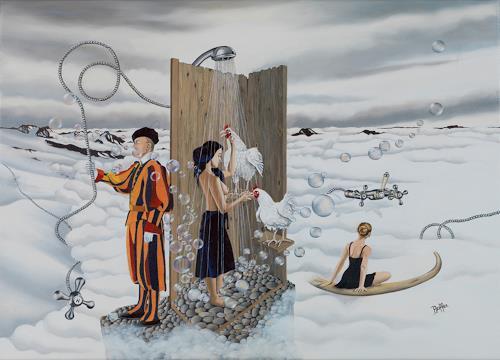 dominique hoffer, Le Souffle Enchanté des Libertés Vagabondes, Fantasie, Postsurrealismus, Abstrakter Expressionismus
