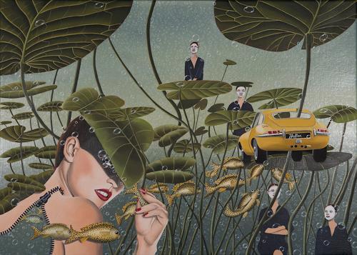 dominique hoffer, Le Temps Révolu des Grandes Absences, Fantasie, Abstrakte Kunst, Abstrakter Expressionismus