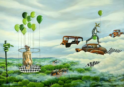 dominique hoffer, Petits Mensonges Solubles, Fantasie, Gegenwartskunst, Abstrakter Expressionismus