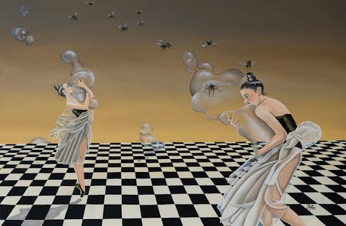 dominique hoffer, Les Escarmouches Obsolètes, Fantasie, Gegenwartskunst, Abstrakter Expressionismus