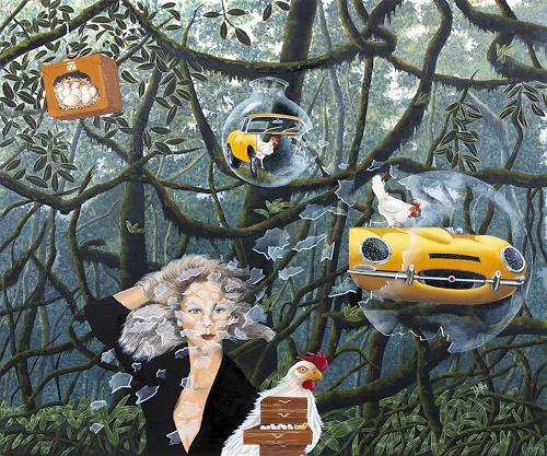 dominique hoffer, Les Stridulations Déjantées des Petits Soleils Chahuteurs, Fantasie, Fantasie, Postsurrealismus, Abstrakter Expressionismus