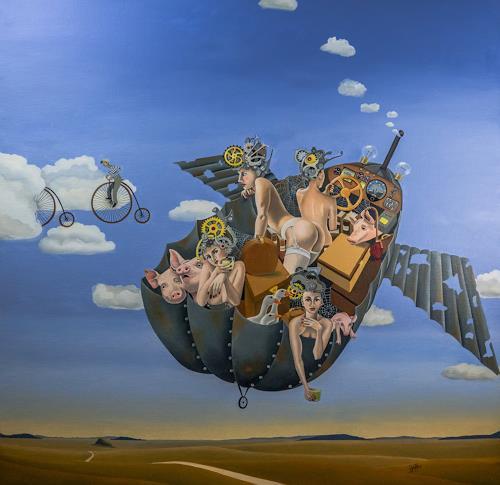 dominique hoffer, A la Recherche du Sycomore Ambulant, Fantasie, Fantasie, Postsurrealismus, Abstrakter Expressionismus