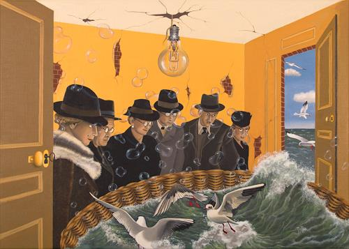 dominique hoffer, La Libération des Utopies, Fantasie, Postsurrealismus, Abstrakter Expressionismus