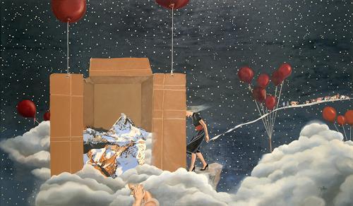 dominique hoffer, L'Heure d'Eté, Fantasie, Postsurrealismus, Abstrakter Expressionismus