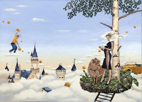 dominique hoffer, Les Echos de Porcelaine, Fantasie, Postsurrealismus, Abstrakter Expressionismus