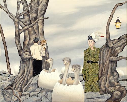 dominique hoffer, Les Illusions de Chlorophylle, Fantasie, Postsurrealismus, Expressionismus