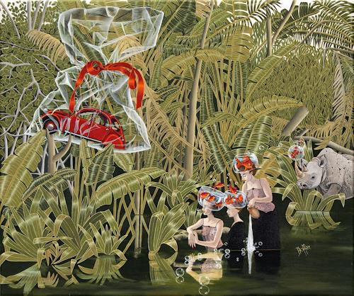 dominique hoffer, La Joie des Secondes durant une Heure en Fête, Fantasie, Postsurrealismus
