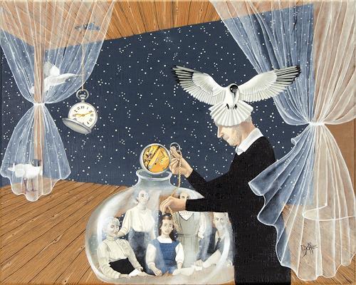 dominique hoffer, L'Inexorable Tic-Tac, Menschen: Familie, Fantasie, Postsurrealismus, Abstrakter Expressionismus