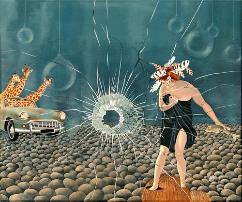 dominique hoffer, Fleur de Fracas, Fantasie, Postsurrealismus, Abstrakter Expressionismus