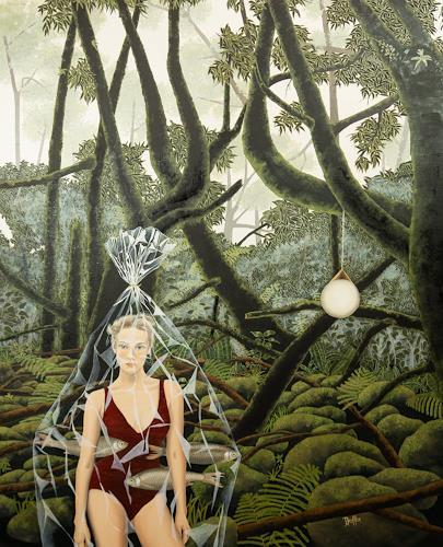 dominique hoffer, La clandestinité des anémophiles, Fantasie, Postsurrealismus, Abstrakter Expressionismus