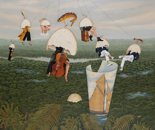dominique hoffer, Volatine volatile, Fantasie, Postsurrealismus, Abstrakter Expressionismus