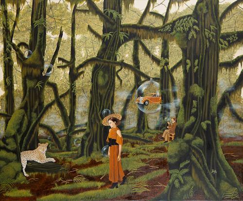 dominique hoffer, L'Effet des pluies dissolues, Fantasie, Postsurrealismus, Abstrakter Expressionismus