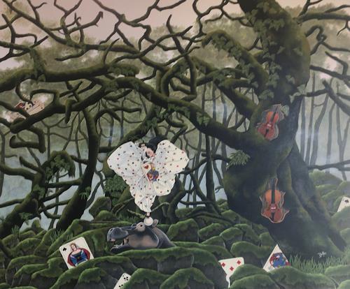 dominique hoffer, Mon royaume pour un habit d'illusions, Fantasie, Postsurrealismus, Abstrakter Expressionismus