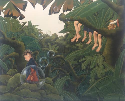 dominique hoffer, L'enfance est une croisière, Fantasie, Postsurrealismus, Abstrakter Expressionismus