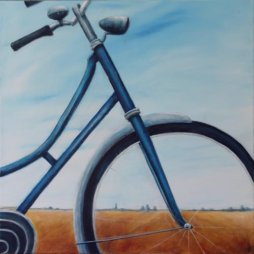 Romy Latscha, met de fiets, Freizeit, Verkehr: Fahrrad, Gegenwartskunst, Expressionismus