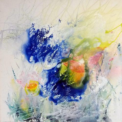 romy latscha, dem Licht entgegen, Natur, Abstraktes, Gegenwartskunst, Expressionismus