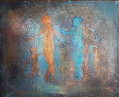 romy latscha, Bewegende Begegnung, Menschen: Gruppe, Gefühle, Gegenwartskunst
