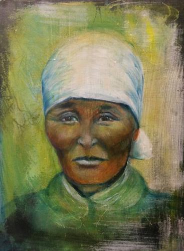 romy latscha, Porträt, Menschen: Gesichter, Menschen: Frau, Gegenwartskunst