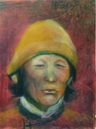 romy latscha, Porträt, Menschen: Gesichter, Menschen: Mann, Gegenwartskunst