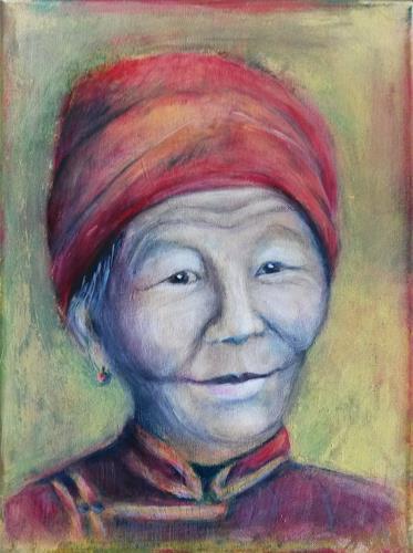 romy latscha, Porträt, Menschen: Gesichter, Menschen: Frau, Gegenwartskunst, Expressionismus