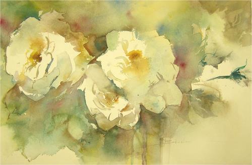 webo, weisse Pracht, Pflanzen: Blumen, Expressionismus