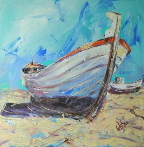 webo, Boote 2, Verkehr: Schiff, Stilleben, Expressionismus