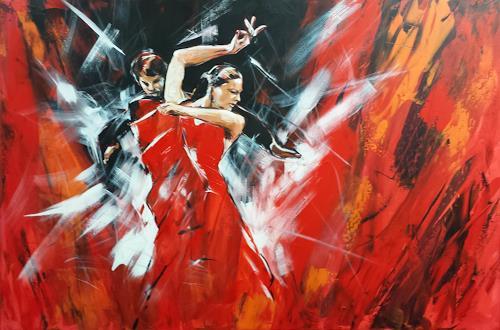 webo, Flamenco, Menschen: Paare, Bewegung, Expressionismus