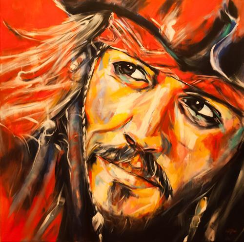 webo, Johnny Depp, Menschen: Porträt, Diverse Menschen, expressiver Realismus, Expressionismus