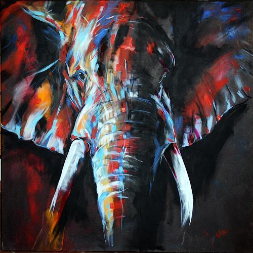 webo, elefantös, Tiere: Land, Diverse Tiere