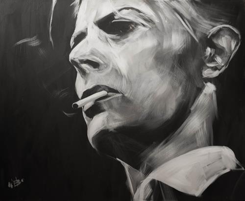 webo, David Bowie, Menschen: Gesichter, Menschen: Porträt, expressiver Realismus, Expressionismus