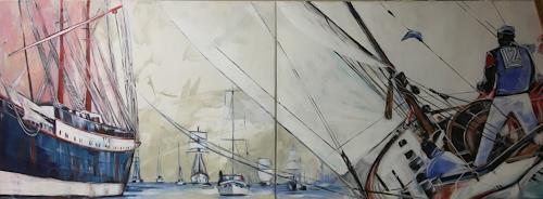 webo, im Wind, Sport, Freizeit, Expressionismus