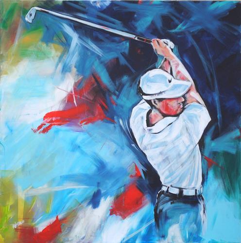 webo, Golf 2016, Menschen, Sport, Expressionismus
