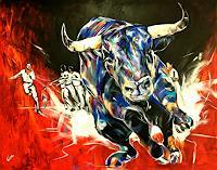 webo-Tiere-Land-Diverse-Tiere-Moderne-Abstrakte-Kunst