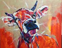 webo-Tiere-Tiere-Land-Moderne-expressiver-Realismus
