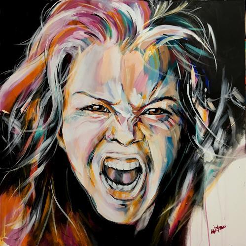 webo, der Schrei, Menschen, Menschen: Gesichter, Abstrakte Kunst, Abstrakter Expressionismus