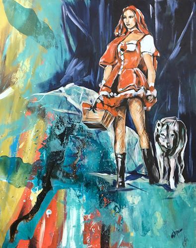 webo, Rotkäppchen, Menschen: Frau, Fantasie, Abstrakte Kunst