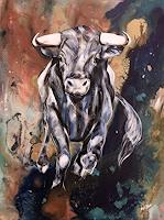 webo-Tiere-Land-Tiere-Moderne-Abstrakte-Kunst