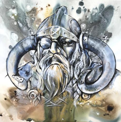 webo, Odin, Mythologie, Dekoratives, Abstrakte Kunst