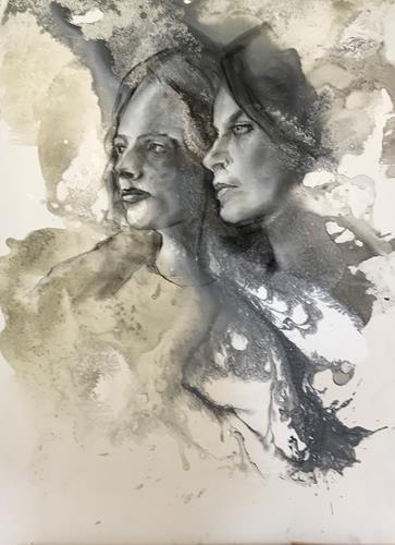 webo, 2 Frauen, Menschen: Frau, Menschen: Gruppe, Abstrakte Kunst, Expressionismus