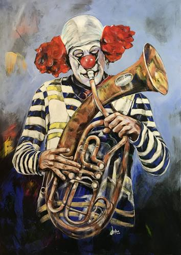 webo, Ha Ha Said The Clown, Zirkus, Humor, Abstrakte Kunst
