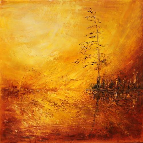 Heidrun von Haacke, Hitzewelle, Natur: Diverse, Impressionismus, Abstrakter Expressionismus