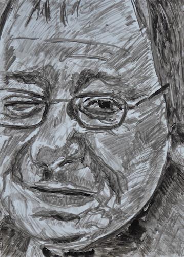 Klaus Ackerer, O/T, Menschen: Porträt, Abstrakte Kunst