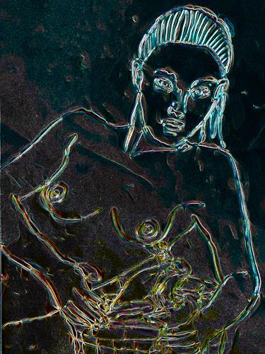 Klaus Ackerer, she forgot me, Fantasie, Abstrakte Kunst