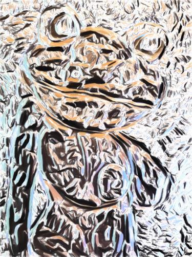 Klaus Ackerer, busty frog, Fantasie, Abstrakte Kunst