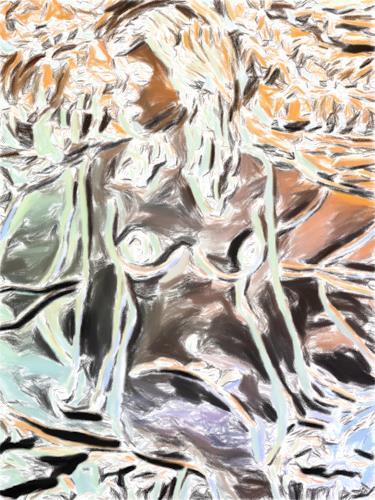 Klaus Ackerer, she is waiting, Abstraktes, Abstrakte Kunst