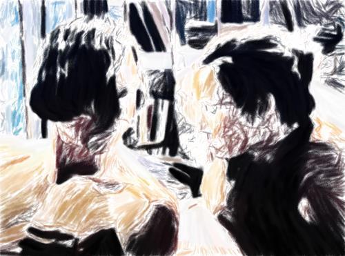 Klaus Ackerer, sisterlove, Abstraktes, Abstrakte Kunst