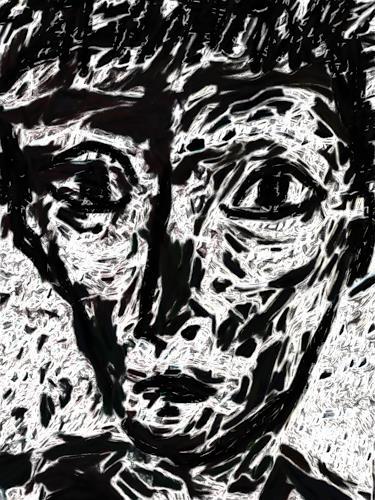 Klaus Ackerer, Blick ins Gewissen, Menschen: Gesichter, Abstrakte Kunst