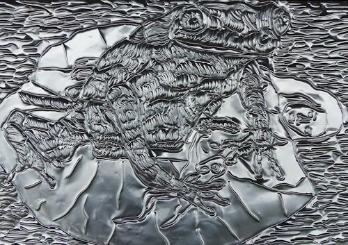 Klaus Ackerer, Flucht und Narziss, Gesellschaft, Abstrakte Kunst